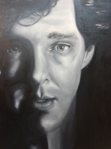 Benedict Crumberbatch, oil en canvas
