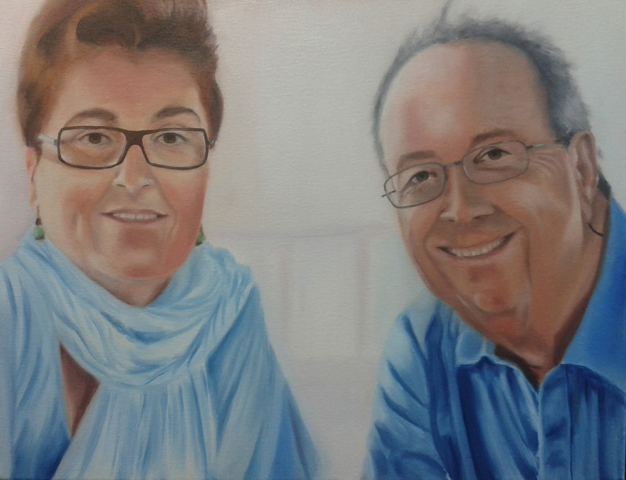 Parents, oil on canvas