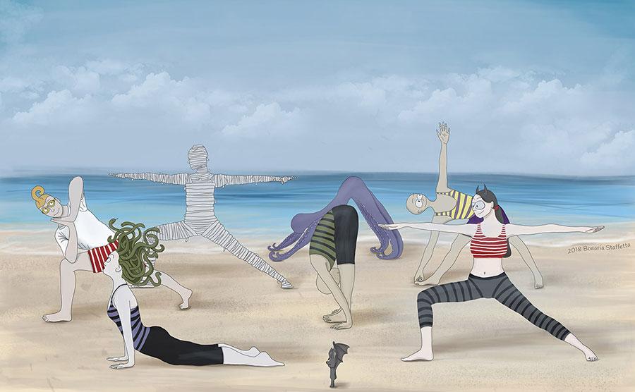 Monstrum family - Yoga in the summer