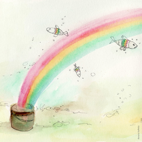Fish in the rainbow