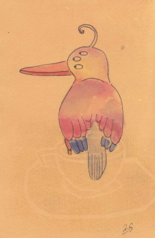 Mr. bird 10x15 cm