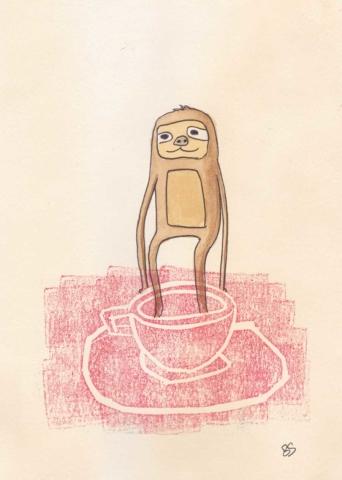 Sloth  13x18cm