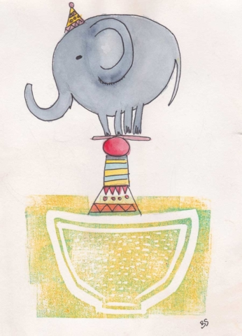 Elephant 13x18cm