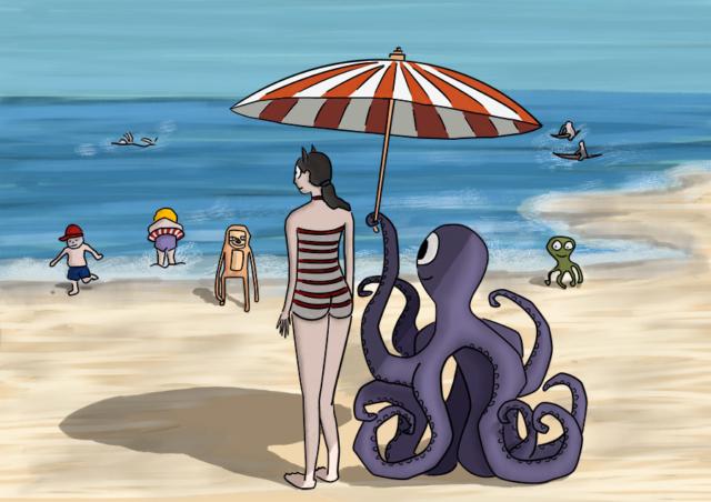 Monstrum family - On the beach