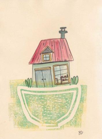 House 13x18cm