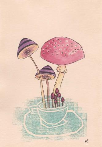 Mushrooms 13x18cm