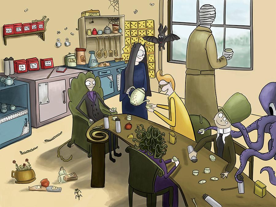 Monstrum family - Tea for Halloween